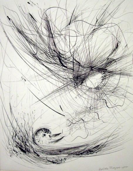 Barbara Morgan - Sunsong, 1954 Ink on paper | Bruce Silverstein Gallery