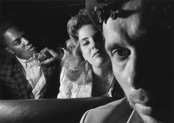 Ryan Weideman - Self-Portrait with Black an White Couple, 1986 Gelatin silver print ; Bruce Silverstein Gallery