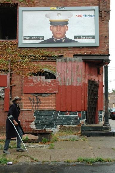 Zoe Strauss-  Marine's Billboard, 2001-2006    Bruce Silverstein Gallery