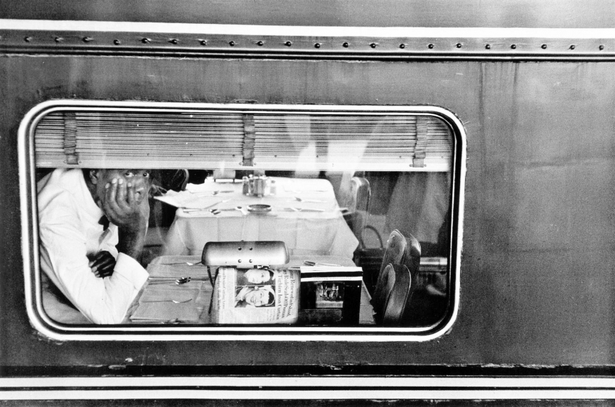 Frank Paulin - Dining Car, Atlantic City, New Jersey, 1957 Gelatin silver exhibition print mounted to board, printed c. 1957 | Bruce Silverstein Gallery