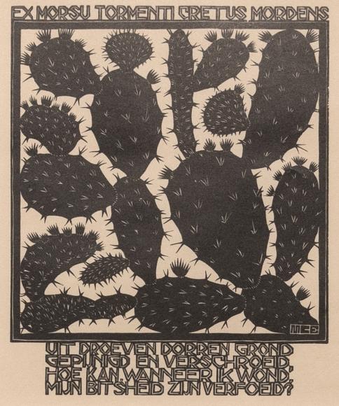 M.C. Escher, Cactus,fromEmblemata,1932