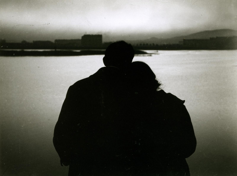 Elizabeth and Me, Budapest, Hungary, October 20, 1920 	Gelatin silver print, printed c. 1920 	1 1/2 x 2 inches