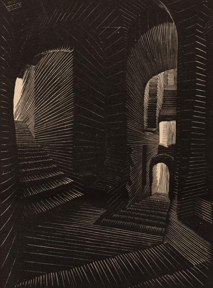 M.C. Escher,  Covered Alley in Atrani [Coast of Almafi], August 1931 | Bruce Silverstein Gallery