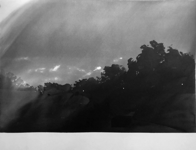 Orchard Crates, Santa Barbara, California (from 100 Views Along the Road), 1978/83, Large-format watercolor on paper