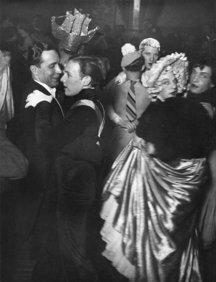 BrassaiLa Bal des Inverts, au Magic City, Rue Cognac, Jay, c. 1932 Gelatin silver print, printed c. 1930s. 7 x 9 3/8 inches