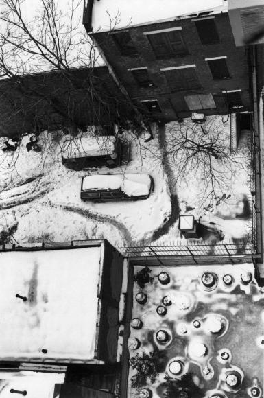 André Kertész - MacDougal Alleyway, February 2, 1977 ; Bruce Silverstein Gallery