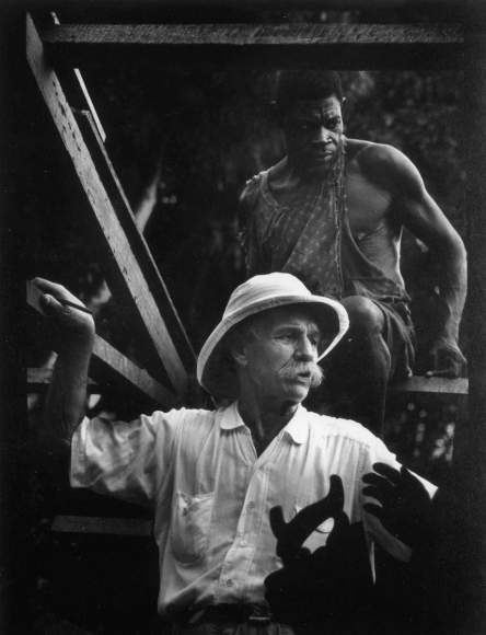 A Man of Mercy, Albert Schweitzer, 1954  	Gelatin silver print, printed later  	7 3/4 x 6 inches