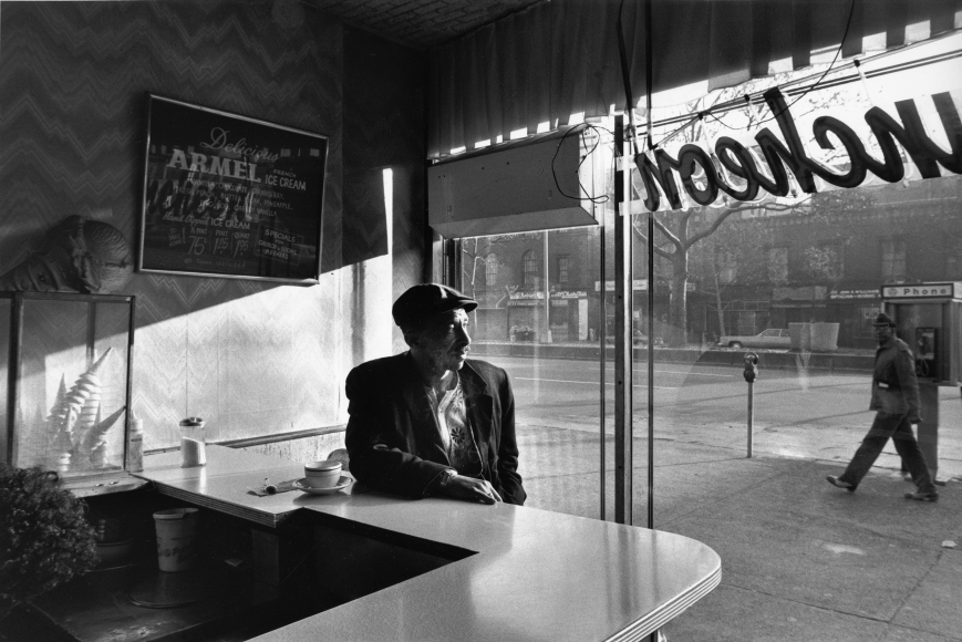 Chester Higgins -  Early morning coffee, Harlem, 1974