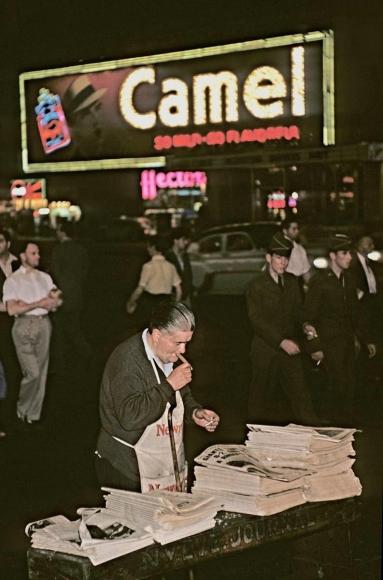 Marvin E. Newman - Broadway III, 1954  | Bruce Silverstein Gallery