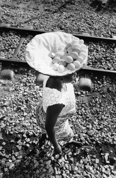 Chester Higgins -  Egg Vendor, Ghana, 1973