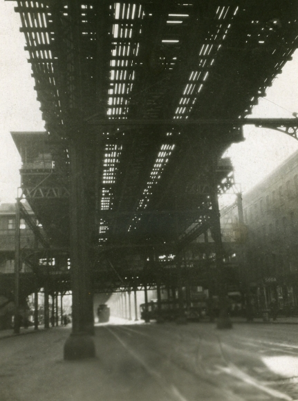"E. O. Hoppé - ""L"" Train, 1921    Bruce Silverstein Gallery"