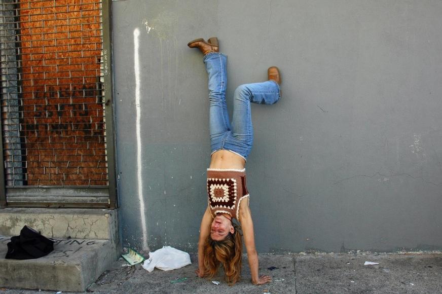 Zoe Strauss - Melissa's Handstand, 2001-2008  | Bruce Silverstein Gallery