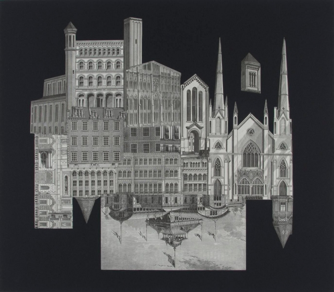 Frederick Sommer - Untitled, 1993 Collage on paper | Bruce Silverstein Gallery