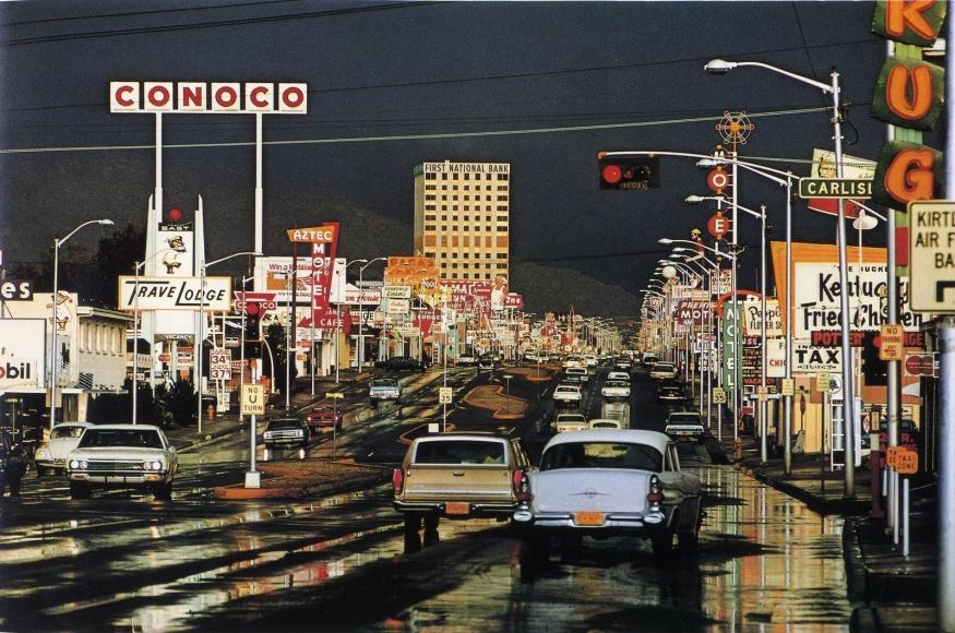 Ernst Haas -  Route 66, Albuquerque, New Mexico, USA,1969  | Bruce Silverstein Gallery
