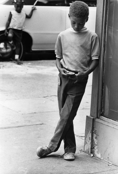 Chester Higgins -  Pondering, Harlem, 1969