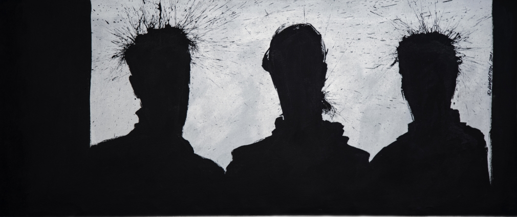 Richard Hambleton  Three Shadow Heads, 2001