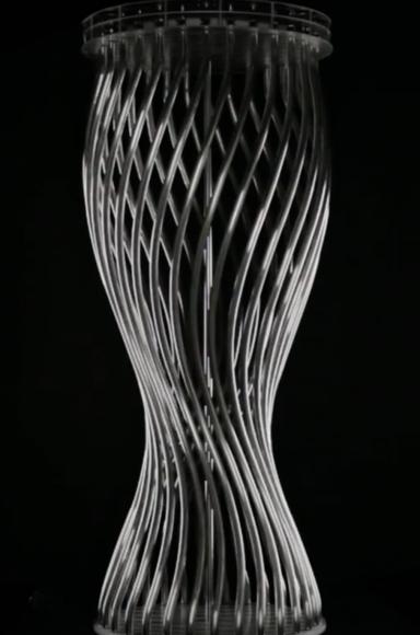 Chuck Hoberman Spiral, 2011