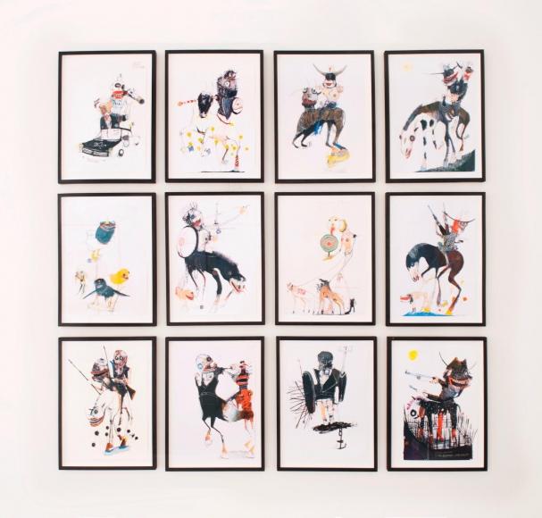 Grid of 12 drawings