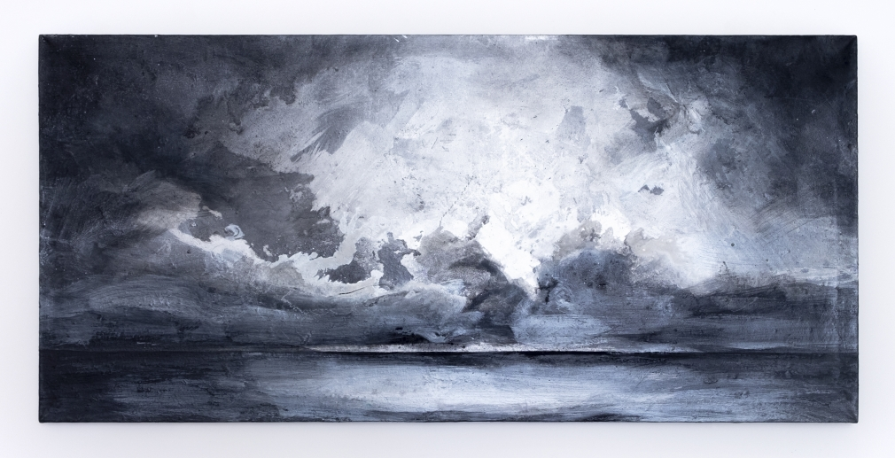 Richard Hambleton  Silver Seascape, 1996