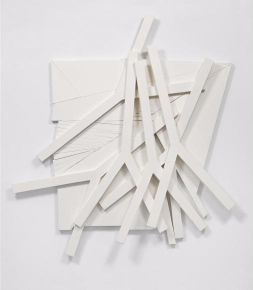 Wyatt Kahn,Untitled,2020, linen on linen on panel, 104 x 99 x 6 1/4 inches