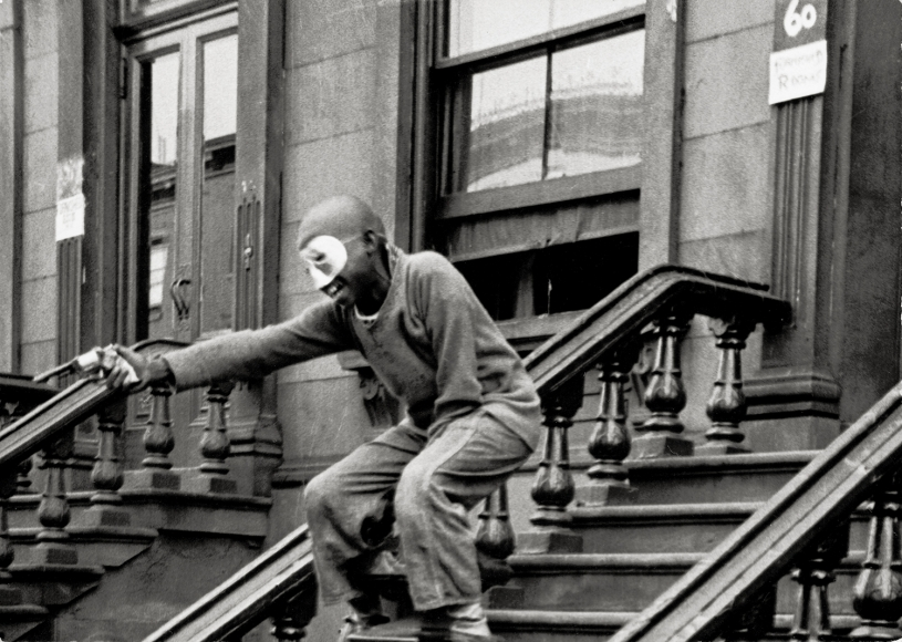 Helen Levitt,NY (Child with Mask and Toy Gun), c.1940,4 ½ x 6 ½inches