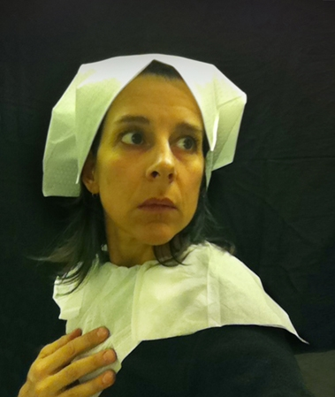 Nina Katchadourian,Lavatory Self Portrait In The Flemish Style Series,2011, c-print, dimensions variable