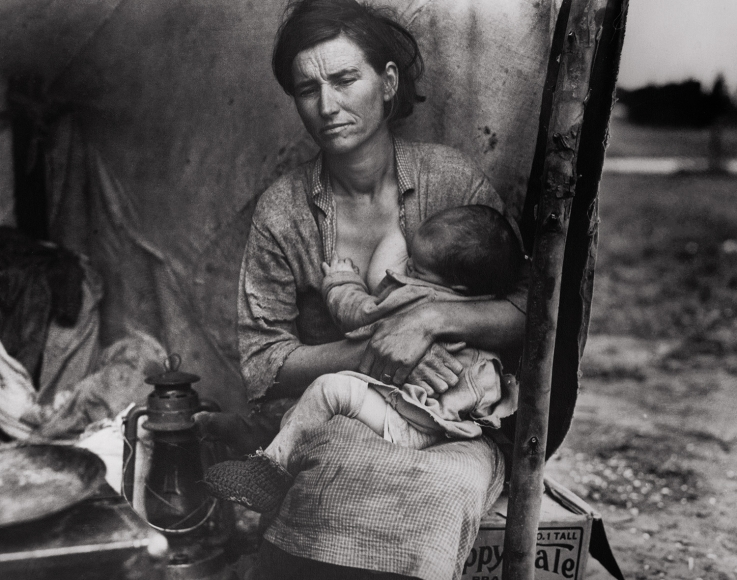 Dorothea Lange,From the Migrant Mother Sequence, Image #3,1936,gelatin silver print,11 x 14 inches