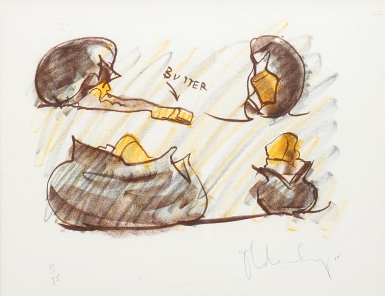 Claes Oldenburg Baked Potato Studies, 1972