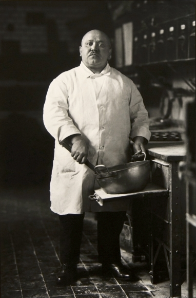 August Sander, The Pastry Chef, 1928, gelatin silver print, 10 1/6 x 6 ¾ inches