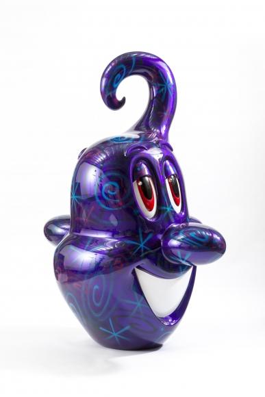 Kenny Scharf, Squirtz (Purple), enamel, rhinestone and fiberglass, 96 1/4 × 74 1/2 × 48 1/4 in.