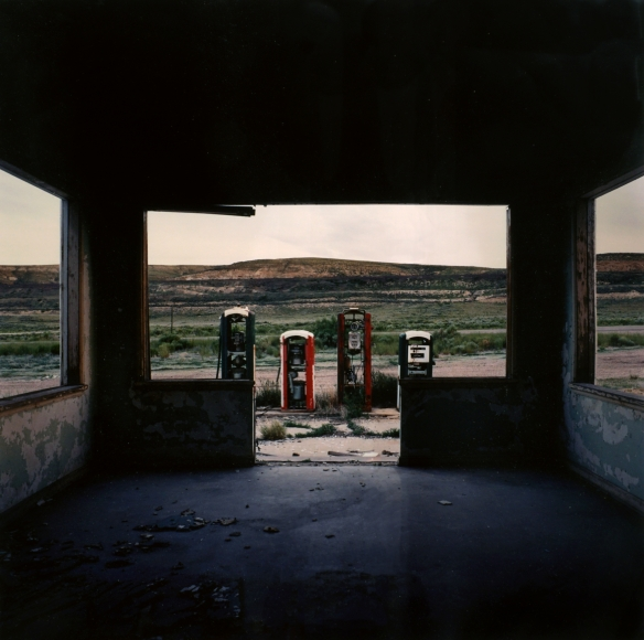 Jeff Brouws Abandoned Gas Station, Green River, Wyoming, 1992