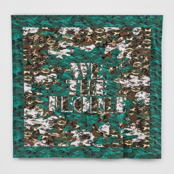 Doug Aitken,We The People,2020, mixed fabric, 105 x 110 x 3 inches