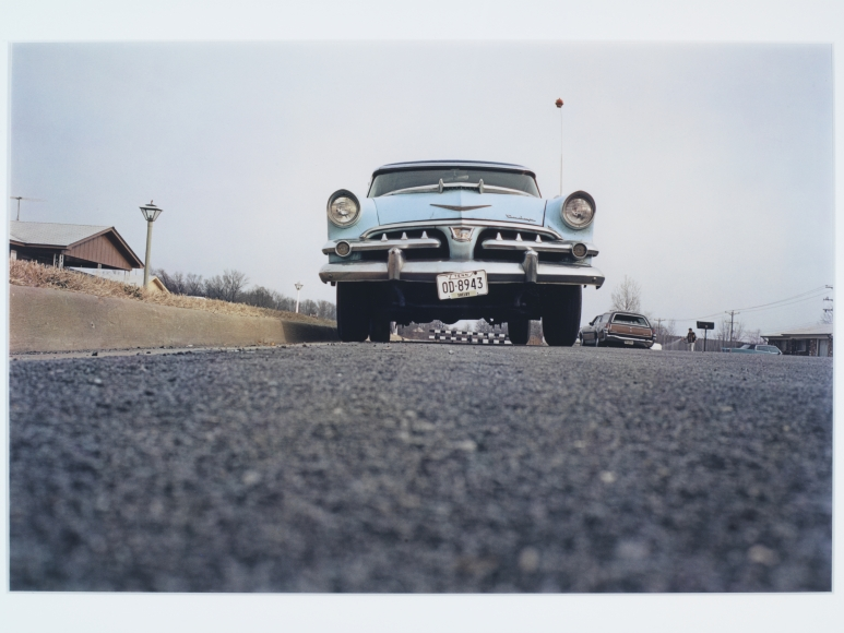 William Eggleston, Untitled (Blue Car on Suburban Street), Memphis, TN, 1970