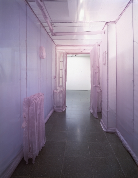 Do Ho Suh, 348 West 22nd St. Apt. A, NY, NY 10011 (corridor), 2001, translucent nylon, 96 1/2 × 66 1/4 × 488 1/4 in.