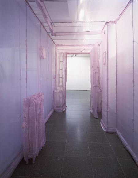Do Ho Suh, 348 West 22nd St. Apt. A, NY, NY 10011 (corridor), 2001, translucent nylon, 96 1/2 × 66 1/4 × 488 1/4 in.