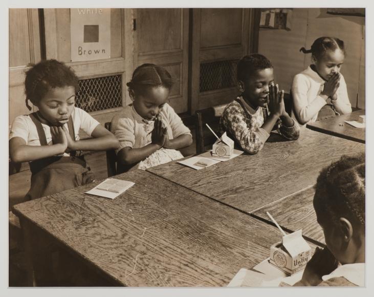 Morris Engel, Harlem Children Praying in School, c. 1940
