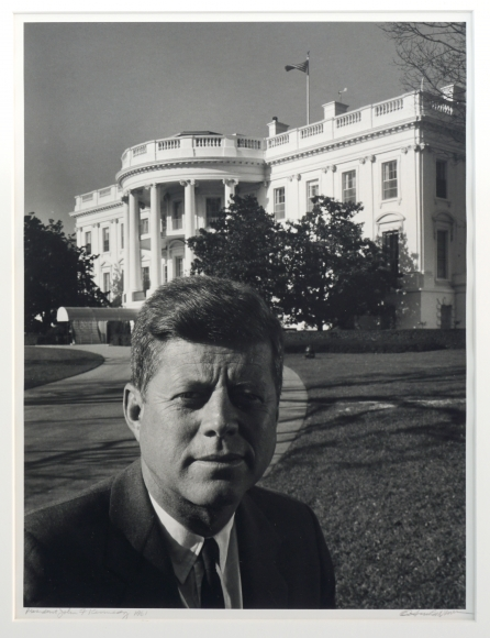 Arnold Newman President Kennedy in Front of the White House, 1981