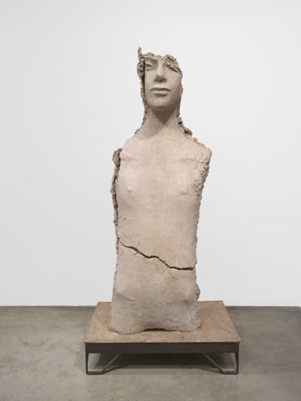Mark Manders, Unfired Clay Torso, 2015