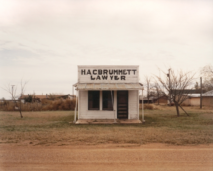 Peter Brown Lawyer's Office, Dickens, Texas (from the Great Plains Project), 1986