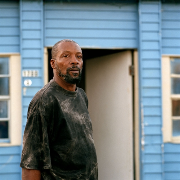 Jeff Brouws, Al Joseph, Relief Worker, Lower Ninth Ward, New Orleans, 2006, archival pigment print, 24 × 20 in.