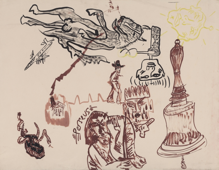 """""""Untitled"""", 1985 India ink, brown ink on paper"""