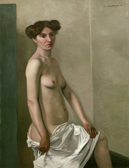 """""""Femme nue tenant sa chemise sur la cuisse droite"""", 1910"""