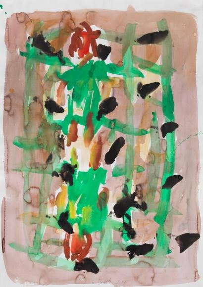 """Untitled"", 1991 Gouache, pastel, watercolor on paper"