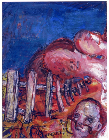 """Oberon"", 1964 Gouache, pastel on paper"