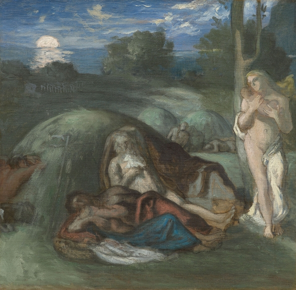"""""""Esquisse pour Le Sommeil (Sketch for Sleep)"""", 1867"""