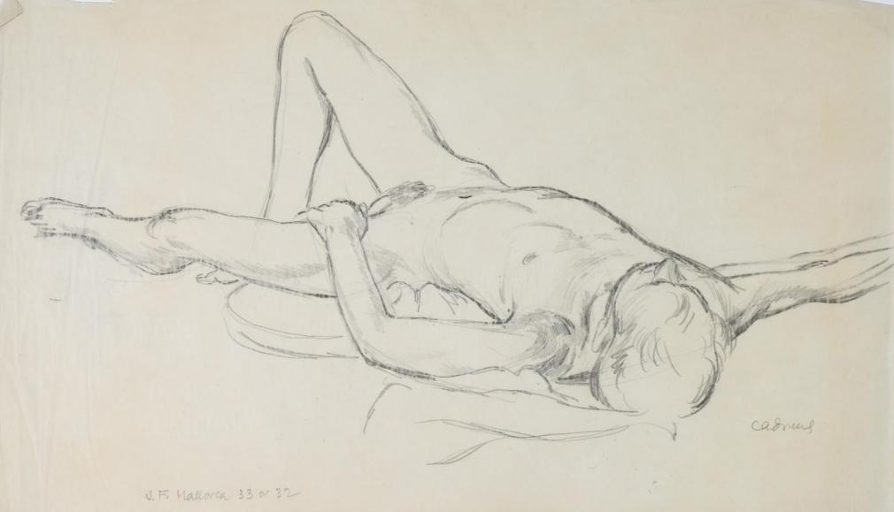 """""""Male Nude (Portrait of Jared French Mallorca)"""", ca. 1932-1933"""