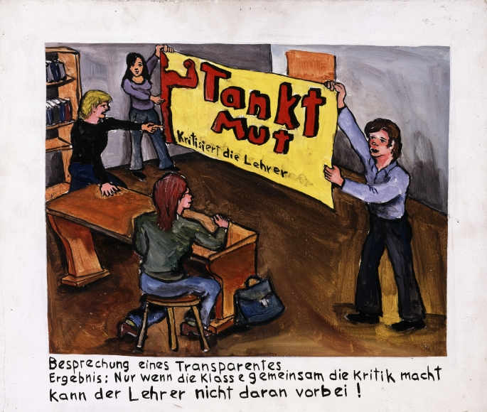 """""""Discussion About a Banner"""", 1971"""