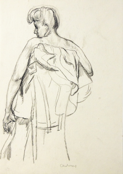 """""""Female Figure from Behind"""", ca. 1930-1939"""