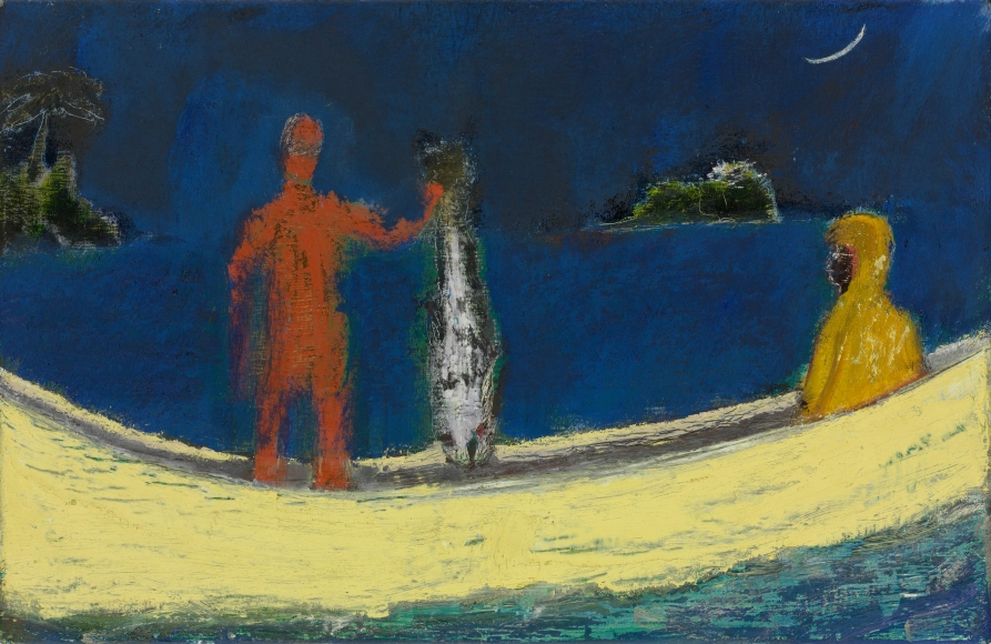 """""""Spearfisher"""", 2015 Oil on linen"""