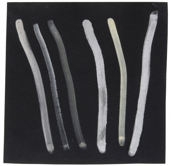 """""""Untitled"""", 1968 Gouache, silver paint on board"""